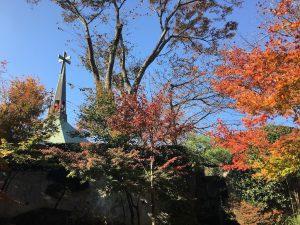 丘の上記念会堂の紅葉